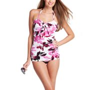 Upstream Floral Bandeau One-Piece Swimsuit