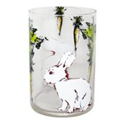 Blossoms and Blooms Bunny and Carrot Hurricane Pillar Candleholder