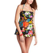 Upstream Floral Bandeau Swimdress