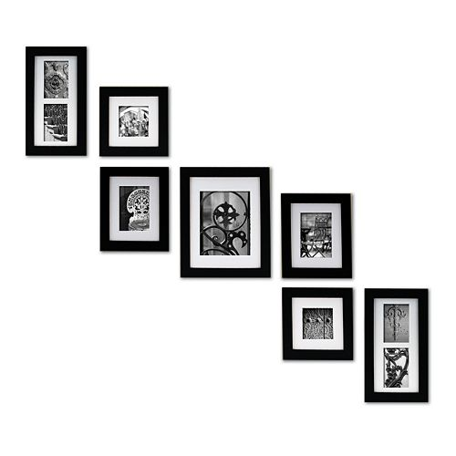 create a gallery 7 piece frame set