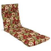 Croft and Barrow Palm Outdoor Chaise Lounge Chair Pad