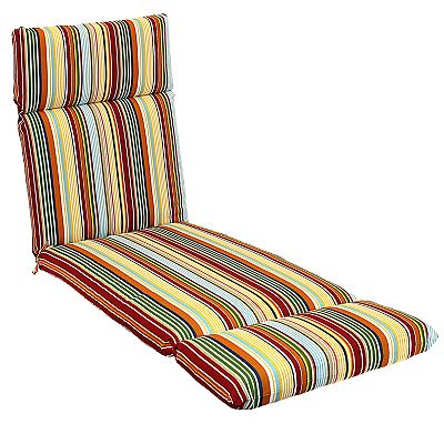 Croft and Barrow Striped Outdoor Chaise Lounge Chair Pad