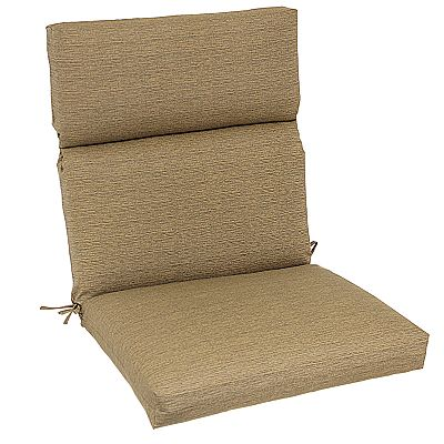 Croft and Barrow Solid Outdoor Seat and Back Chair Cushion