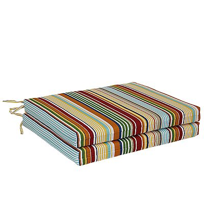 Croft and Barrow Bright Stripe 2-pc. Outdoor Chair Cushion Set
