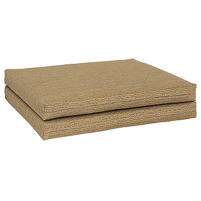 Croft and Barrow Solid Outdoor 2-pk. Chair Pads