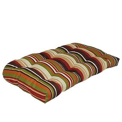 Croft and Barrow Striped Outdoor Wicker Double Chair Cushion