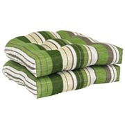 SONOMA life + style Striped 2-pc. Outdoor Wicker Chair Cushion Set