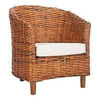 Safavieh Omni Honey Oak Finish Barrel Chair