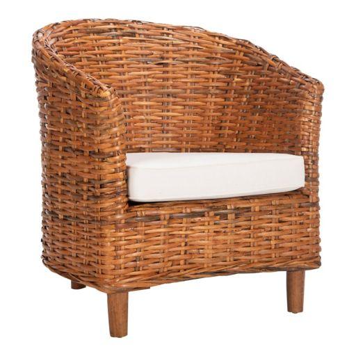 Safavieh Omni Honey Oak Finish Barrel Chair
