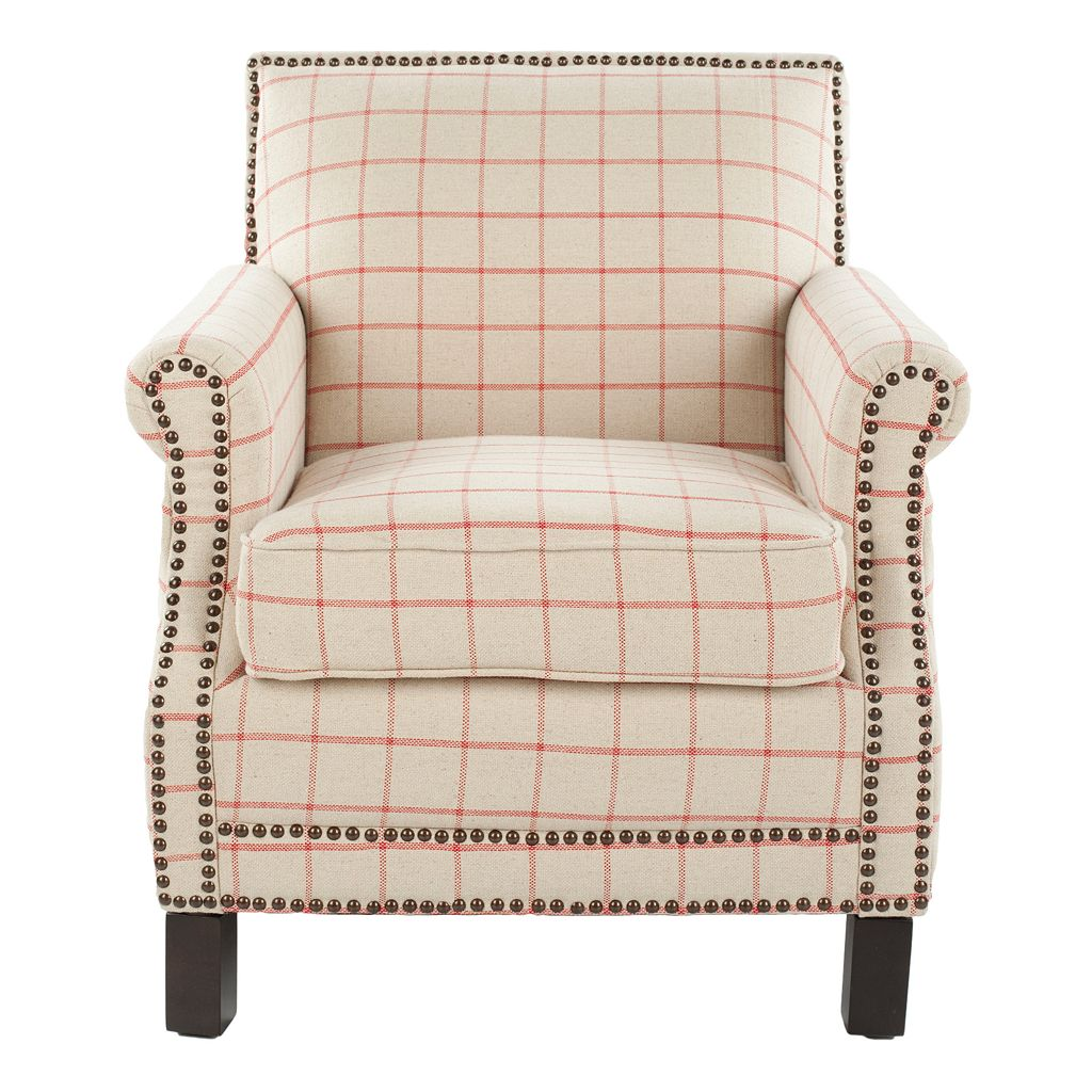 Safavieh Easton Club Plaid Chair