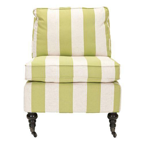 Safavieh Randy Yellow Stripe Armless Club Chair