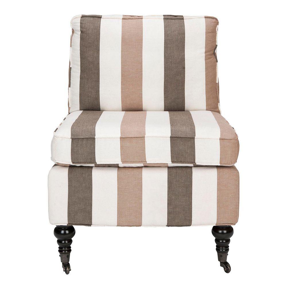 Safavieh Randy Brown Stripe Armless Club Chair