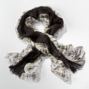 Simply Vera Vera Wang Stitched Panels Scarf