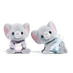 Calico Critters Ellwoods Elephant Twins Set