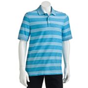 Croft and Barrow Striped Traveler Pique Polo - Big and Tall