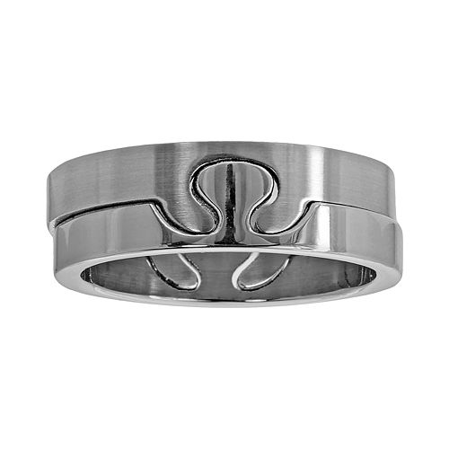 Stainless Steel Puzzle Ring Set - Men