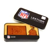 New York Jets Trifold Wallet and Key Fob Gift Tin - Men