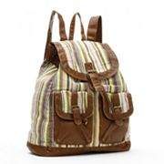 Mudd Kenny Striped Canvas Backpack