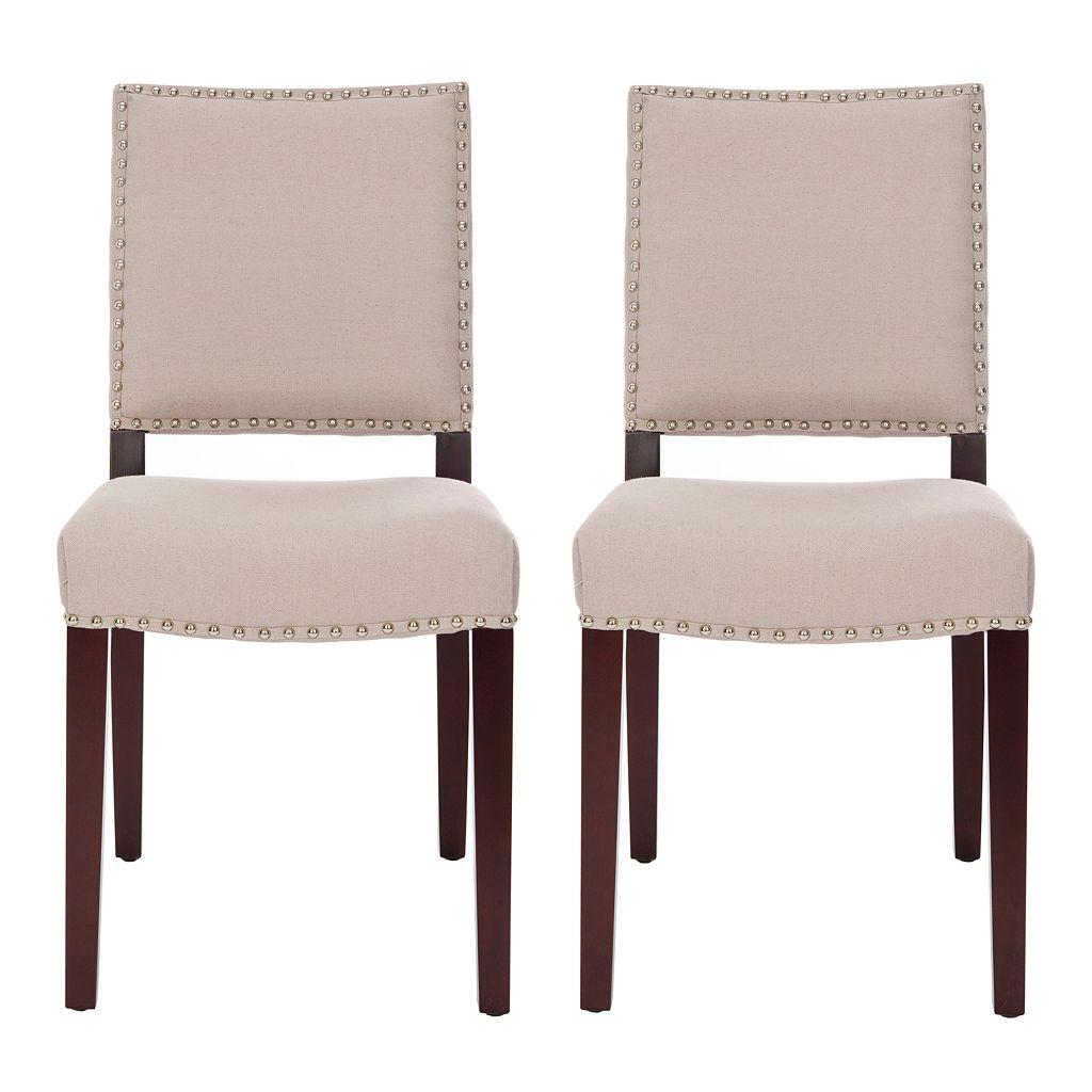 Safavieh 2-pc. James Beige Side Chair Set
