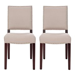 Safavieh 2-pc. James Beige Side Chair Set