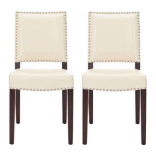 Safavieh 2-pc. James Cream Side Chair Set