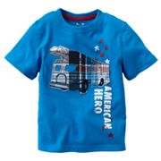 Jumping Beans Plaid Fire Truck Tee - Toddler