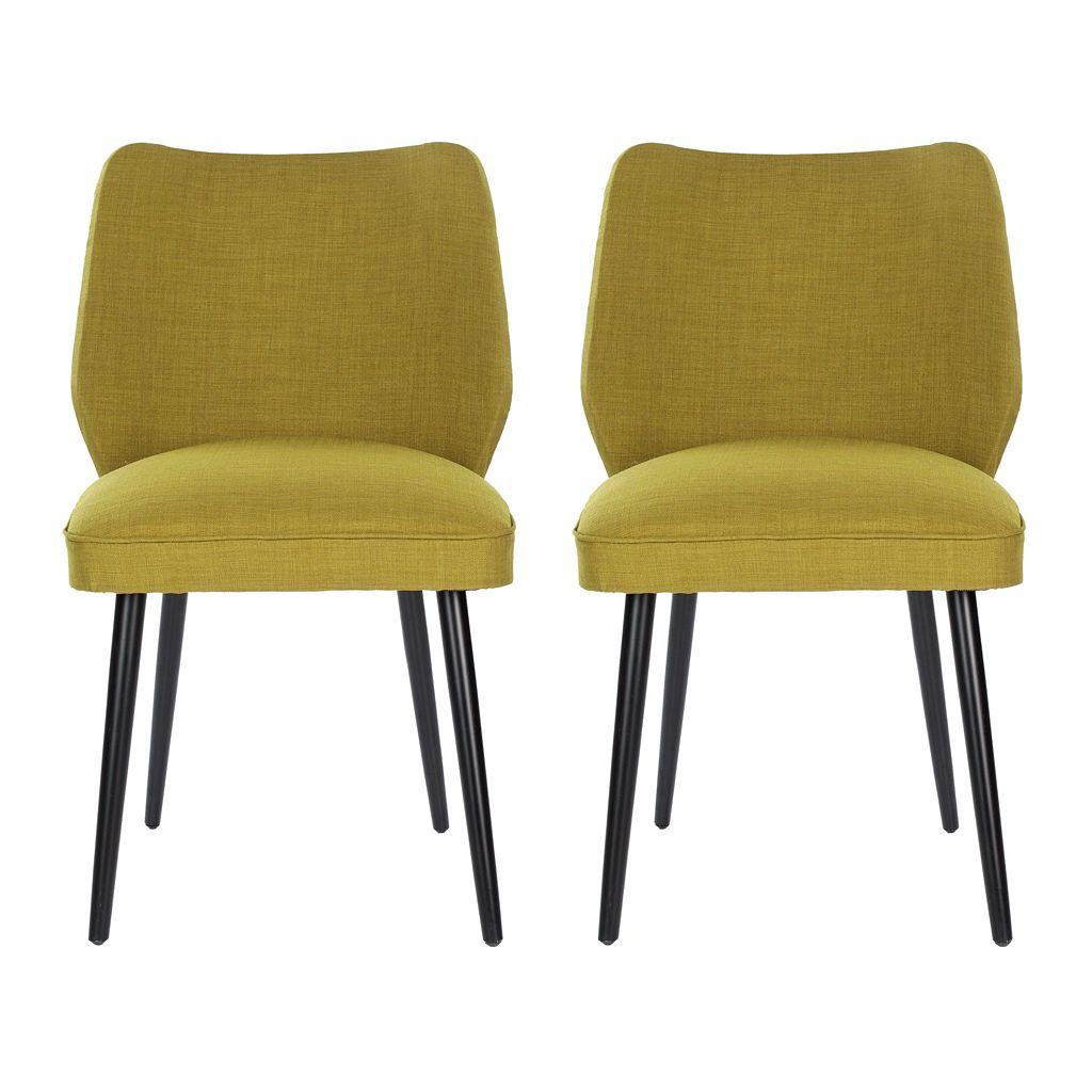 Safavieh 2-pc. Ethel Green Dining Chair Set