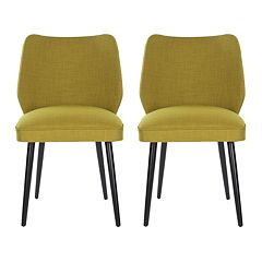 Safavieh 2-pc. Ethel Green Dining Chair Set