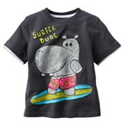 Jumping Beans Mock-Layer Surfing Hippo Tee - Toddler