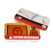 Texas Rangers Trifold Wallet and Key Fob Gift Tin - Men