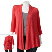 Wrapper Slubbed Open-Front Cardigan - Juniors' Plus