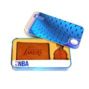 Los Angeles Lakers Trifold Wallet and Key Fob Gift Tin - Men