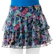 Joe Benbasset Floral Tiered Ruffle Skirt - Juniors