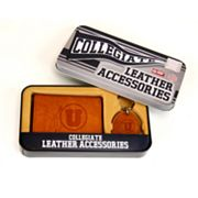 Utah Utes Trifold Wallet and Key Fob Gift Tin - Men