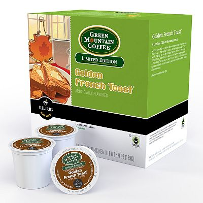 Keurig K-Cup Portion Pack Green Mountain Coffee Limited Edition Golden French Toast - 18-pk.