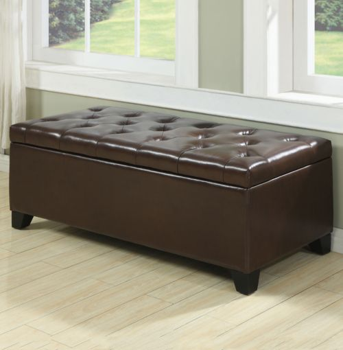 Handy Living Tufted Bench Storage Ottoman
