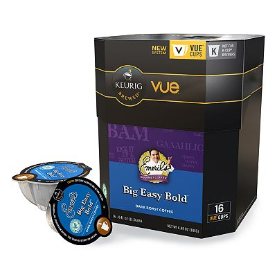 Keurig Vue Pack Emeril's Gourmet Coffee Big Easy Bold Dark Roast Coffee - 16-pk.