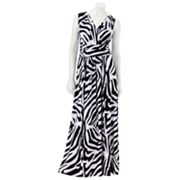 Jennifer Lopez Zebra Surplice Maxi Dress