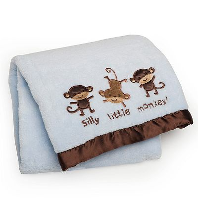 Carter's Silly Little Monkey Velboa Blanket