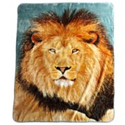 Mighty Lion Hi Pile Super Plush Throw Blanket