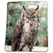 Watchful Owl Hi Pile Super Plush Throw Blanket