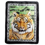 Tiger Portrait Hi Pile Super Plush Throw Blanket