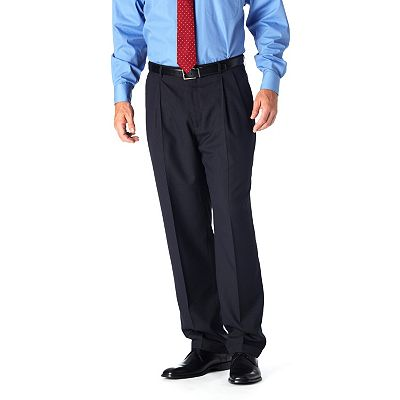 Haggar Textured Pinstripe Pleated Suit Pants