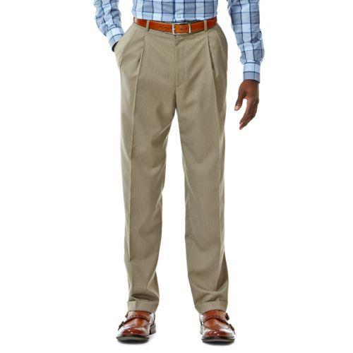 Haggar® Classic-Fit Pleated Khaki Herringbone Suit Pants - Men