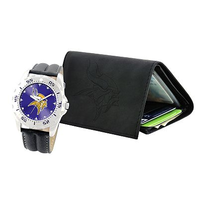 Minnesota Vikings Watch and Wallet Gift Set
