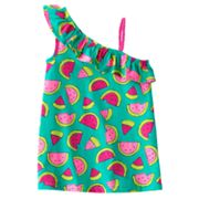 Jumping Beans Watermelon Asymmetrical Tank - Girls 4-7