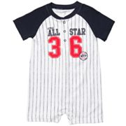 Carter's Baseball Striped Romper - Baby