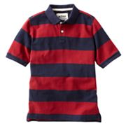 Urban Pipeline Rugby Striped Pique Polo - Boys 8-20