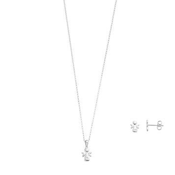Little Diva Diamonds Sterling Silver Diamond Accent Angel Pendant
