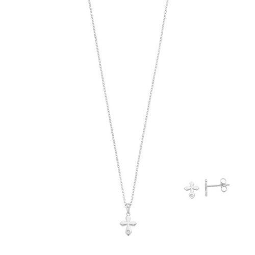 Little Diva Diamonds Sterling Silver Diamond Accent Cross Pendant - Kids